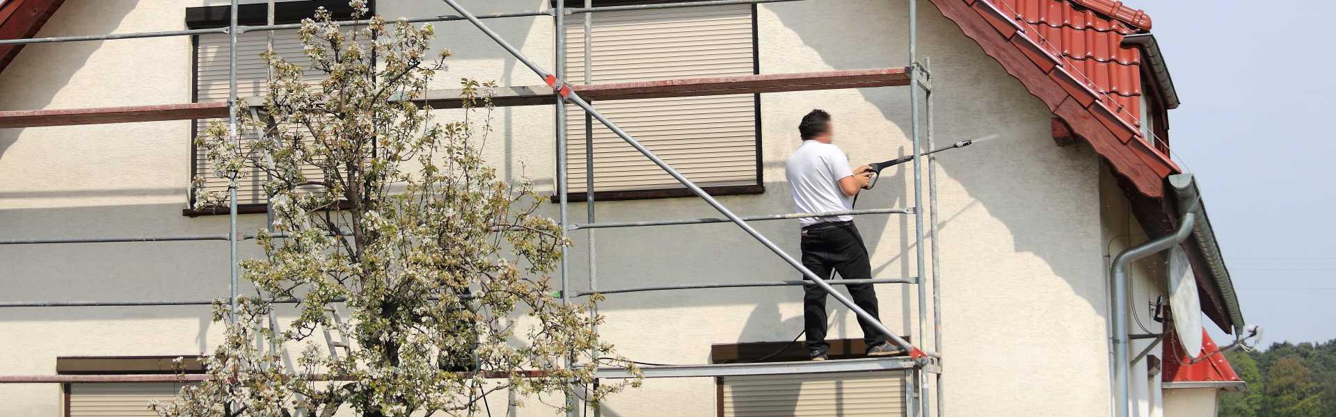 Ekologické čistenie fasád rodinného domu